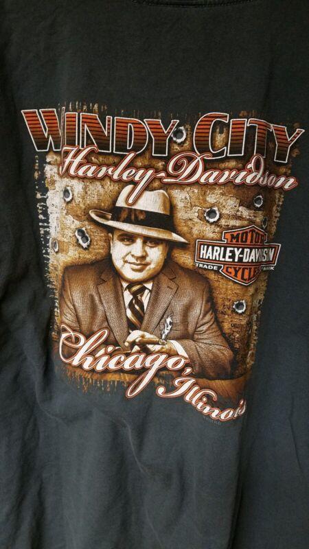 Harley-Davidson brand t-shirt short sleeve 2XL Windy City HD Chicago Gray