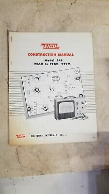 Eico 249 Peak-to-peak Vtvm Construction Manual