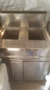As New Commercial Gas Double Deep Fryer.