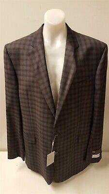 NEW Jack Victor Blue/Brown Plaid Sport Coat Suit Jacket Blazer 48-52 RRP £960