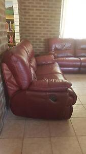 2x Two-seater Leather Recliners Jurien Bay Dandaragan Area Preview