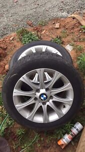 """4 16"""" BMW wheels with good winter tires"""