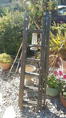 Vintage GPO Wooden Ladder - 3 sections - 18 treads in total