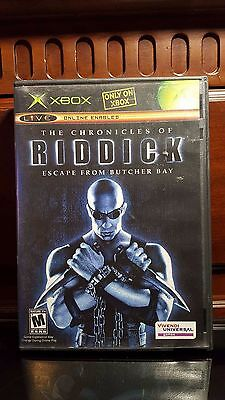 The Chronicles Of Riddick  Escape From Butcher Bay  Microsoft Xbox  2004  Com