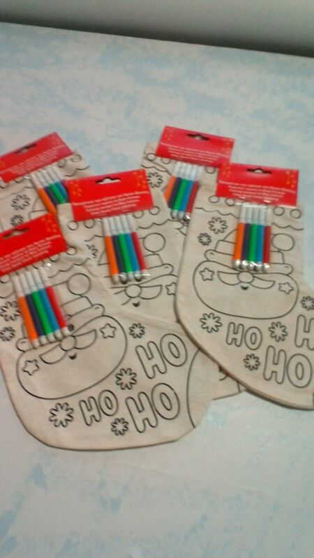 DIY+Stocking+Children%27s+Santa+Boot+to+colour+with+felt+tip+pens+ready+Christmas