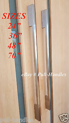 Door Pulls Handle, Pull Handles Push Bars Entrance Back To Back Stainless Steel ()