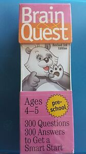 Brain Quest Ages 4-5 Pre-school Revised 3rd Edition**NIB**