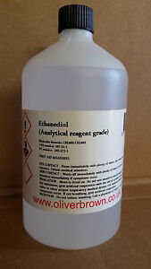 1L MONO ETHYLENE GLYCOL / MEG / ETHANEDIOL  99.97% ANALYTICAL REAGENT GRADE