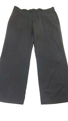 JOSEPH & FEISS MENS WOOL BLEND BLACK DRESS PANTS 38 X 30