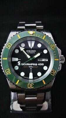 SUBMARINER DIVERS WATCH *MODDED with SEIKO NH36 Movement *STUNNING HULK KERMIT*