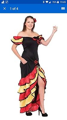 Rumba Halloween Costume (Bristol Novelty AC595 Rumba Woman Costume, UK size 10 -)