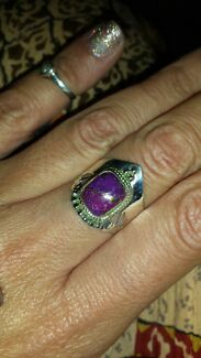 Sterling silver purple copper turquoise ring Hillcrest Logan Area Preview