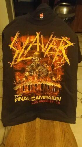 SIZE  MEDIUM - Slayer Forum LAST CAMPAIGN T-Shirt - Original Merch - Size MED