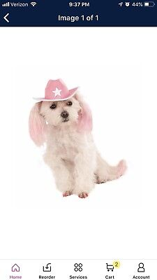NEW Cowboy Pet Hat Dogs Pink Rubies Pet Shop Boutique M-L Pet Dress Up Costume