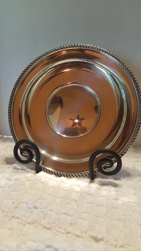 Preisner Sterling Silver 10 1/2 Inch Large Plate Gadroon Edge Border