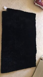 Fuzzy Black Area Rug