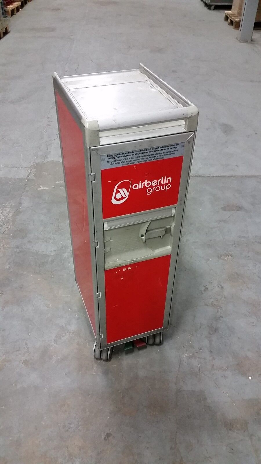 Original Air Berlin Halfsize Trolley ROT inkl. 7 Kunst. Einschübe + Goodies !