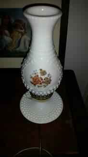19 30s milk glass lamp