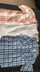 New boys short sleeve button down shirts size 6