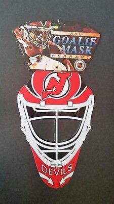 Vintage New Jersey Devil Hockey Goalie Mask Window Pennant