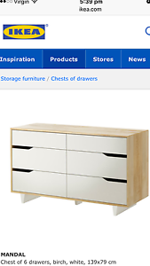 Chest of 6 drawers Ryde Ryde Area Preview