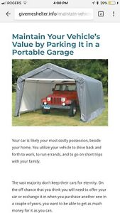 Portable car garage / canopy shed / tarp garage
