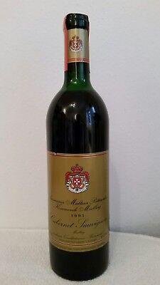 Rotwein Österreich Cabernet Sauvignon Malteser Ritterorden, Jahrgang 1991