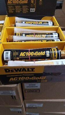 Gold Epoxy (DEWALT POWERS  AC100+GOLD ACRYLIC CONCRETE EPOXY 8478SD QUICKSHOT 10OZ CAULK)