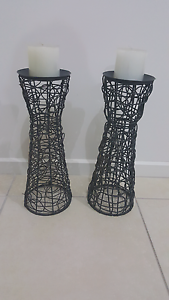 Rattan Candle holders Epping Whittlesea Area Preview
