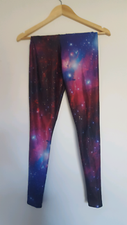 "Black Milk purple ""Galaxy"" leggings"