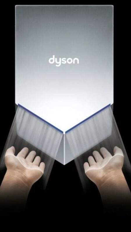 DYSON AIRBLADE V HAND DRYER HU02 NO TOUCH AUTOMATIC NO  VIRUS WALL BATHROOM AB12