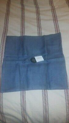 pottery barn blue dusk button linen textured throw pillow cover nautical beach