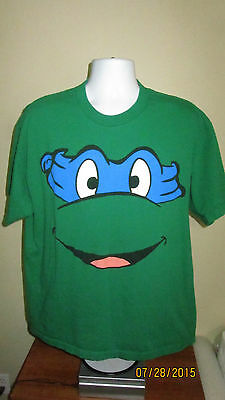 Tmnt Bandana (XL L Teenage Mutant Ninja Turtles TMNT Retro Leonardo Blue Bandana Face Shirt)