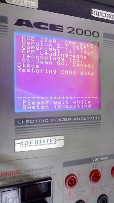 Rochester Ace 2000 Electric Power Analyzer Data Logger Version 2.3
