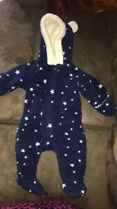 Baby 0-3 months fleece snowsuit