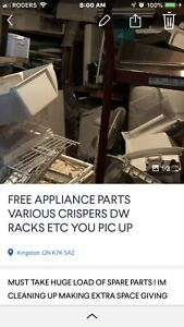 Free used parts for major appliances. Must take all!!