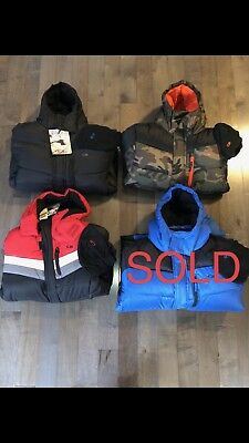 Clearance Sale New Boys Puffer Jacket W/Hood & Hat CBSports Size & Color M/L (Boys Outerwear Clearance)