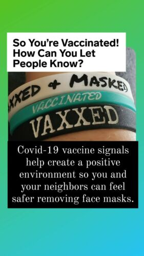 Vaxxed and Masked Rubber Wristband - Vaccinated