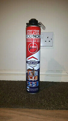 Used, thermal/noise Insulation Foam SPRAY POLYNOR-campers ,storage container, garage  for sale  Shipping to South Africa