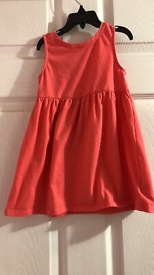 Old Navy Girls Dress Toddler 2t In Hot Coral Pink (Hot Girls In Dresses)