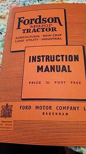 Fordson Major Tractor Instruction Manual Mandurah Mandurah Area Preview