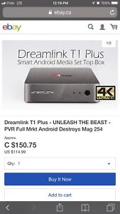 2018 DREAMLINK T1 PLUS 4K Android TV Box