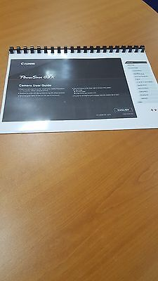 CANON  G3X FULL USER MANUAL GUIDE INSTRUCTIONS PRINTED 219 PAGES A5