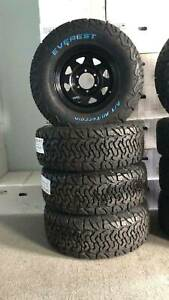 Everest Brand new 265 70 16 All Terrain Tyres and wheels package