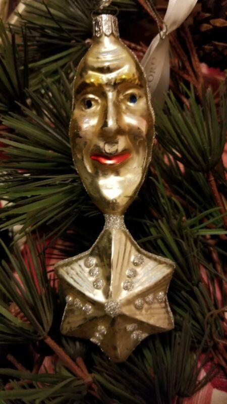 Waterford Winter Wonderland Christmas Ornament Moon And Star NIB Glittery Glass