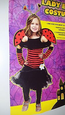 *** New Lady Bug Halloween Costume Girl. 8 - 10 Year - 10 Year Old Halloween Costumes