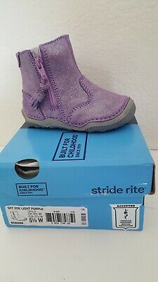 Stride rite Toddler Girl Zoe Light Purple Boots Size 5.5W