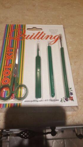 4-Pc. Quilling/Jewelry Scissors/Quilling/Tweezer/Piercing  tool.