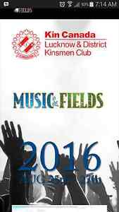 Lucknows Music In the Field tickets plus Camping