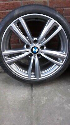 """GENUINE BMW STYLE 442M 19"""" ALLOY WHEELS  Ferric Grey  8.0J & 8.5J 4×Goodyear"""